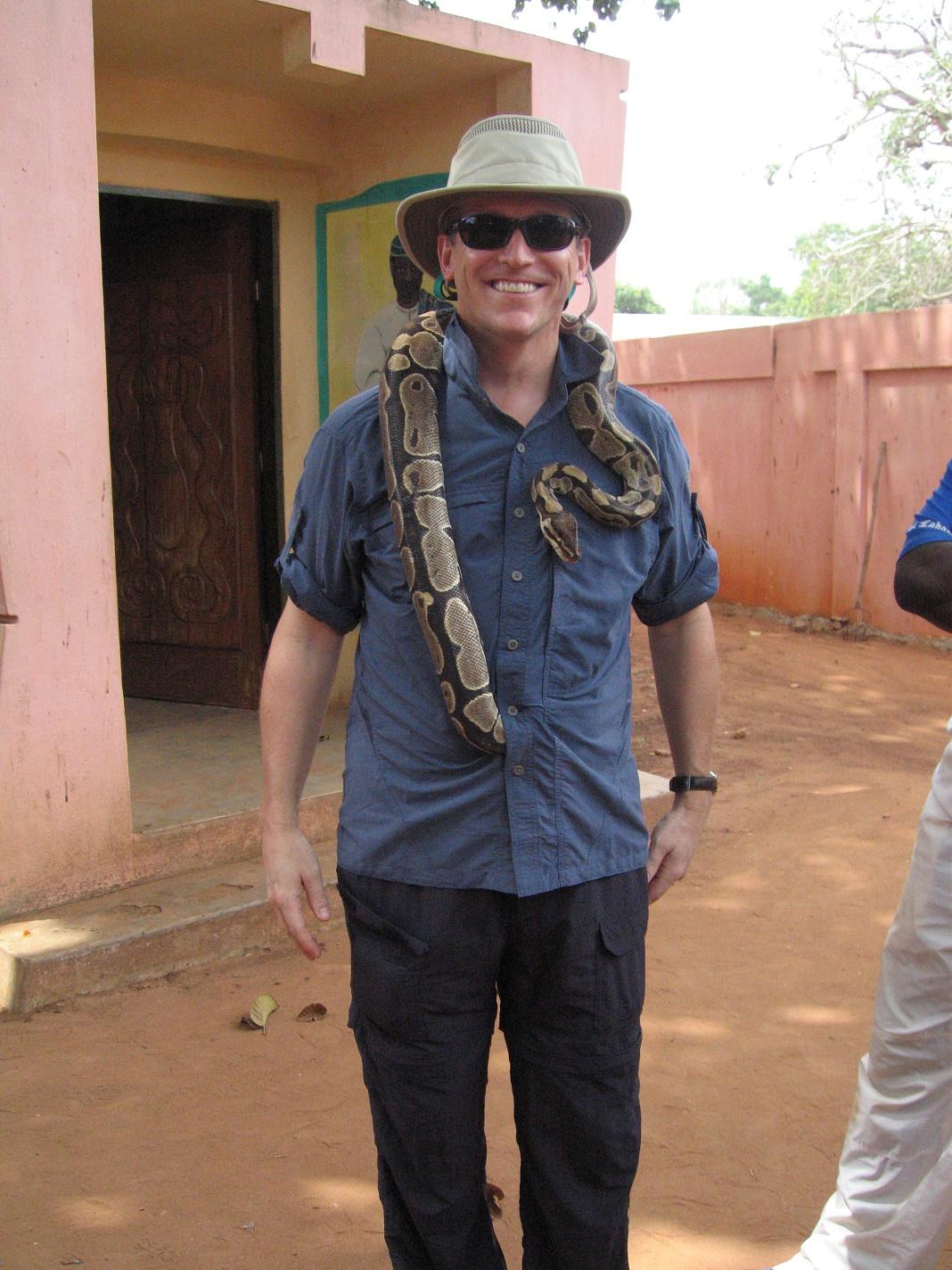 Dr Bernard Leduc au Bénin en 2006