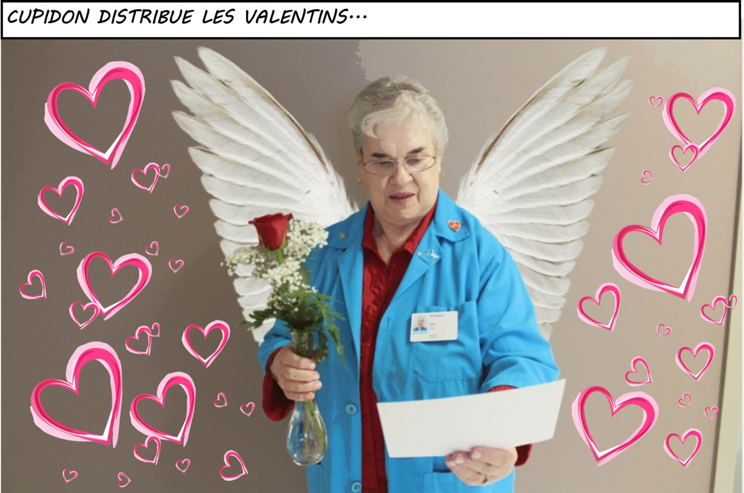Cupidon avec un valentin