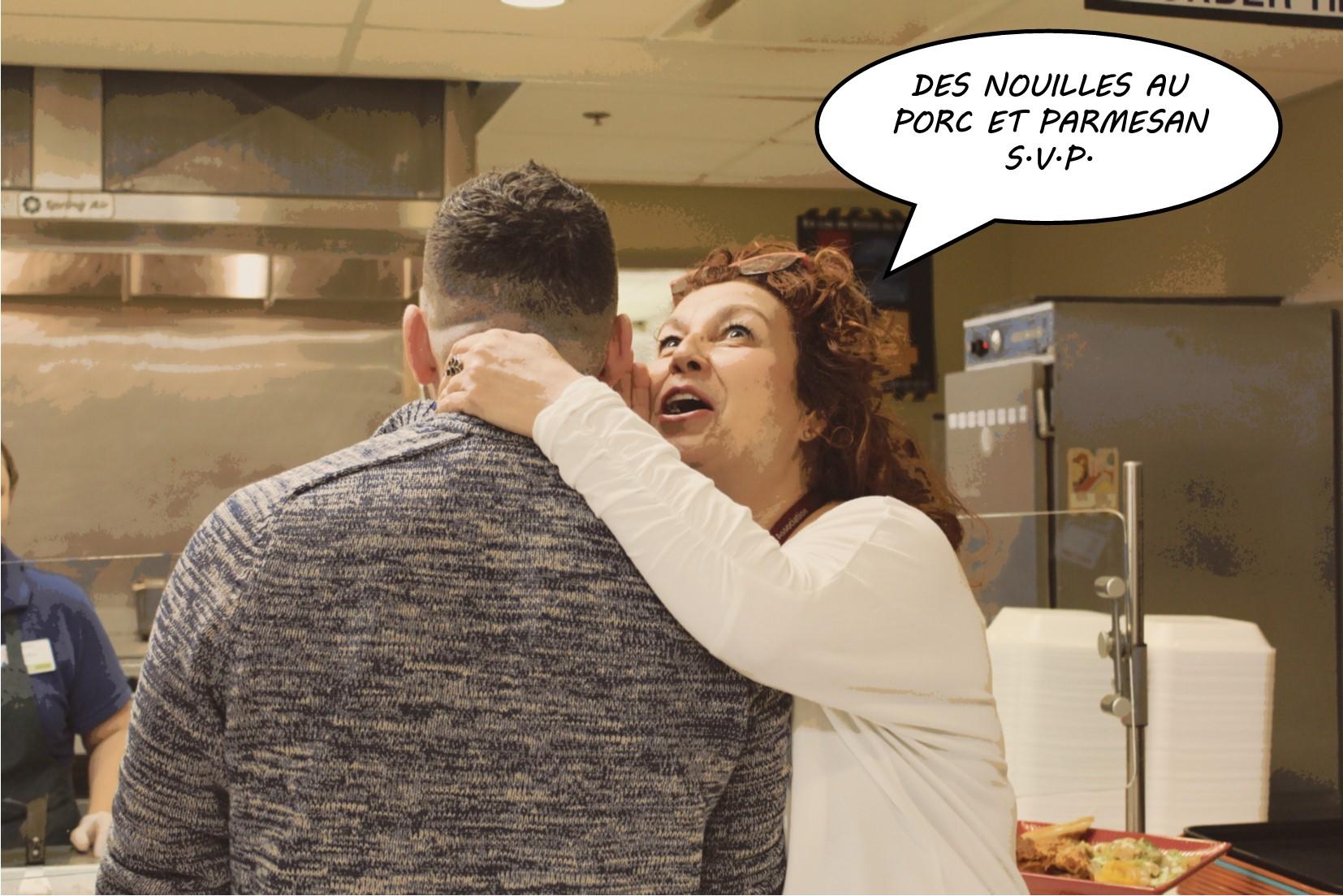 Employés à la cafétéria