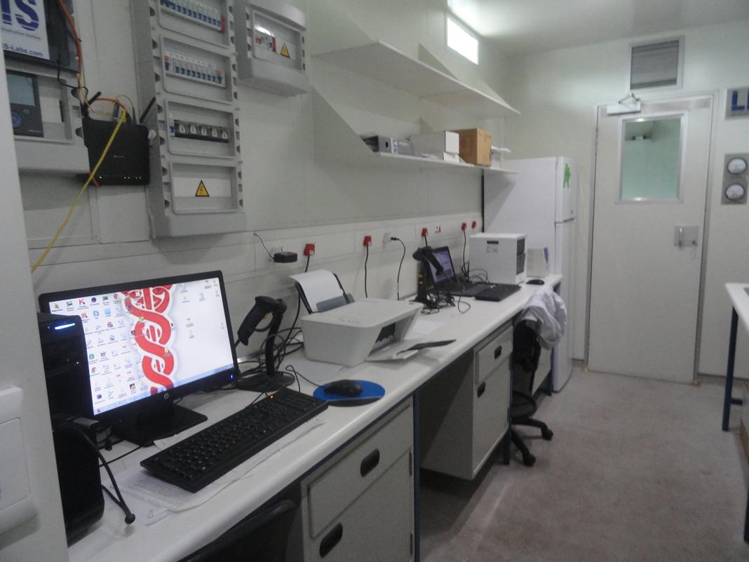 L'intérieur du laboratoire