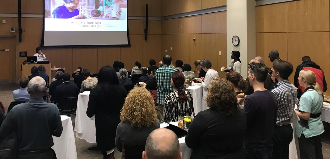 Dre Chomienne au lancement de Santé Mondiale Montfort