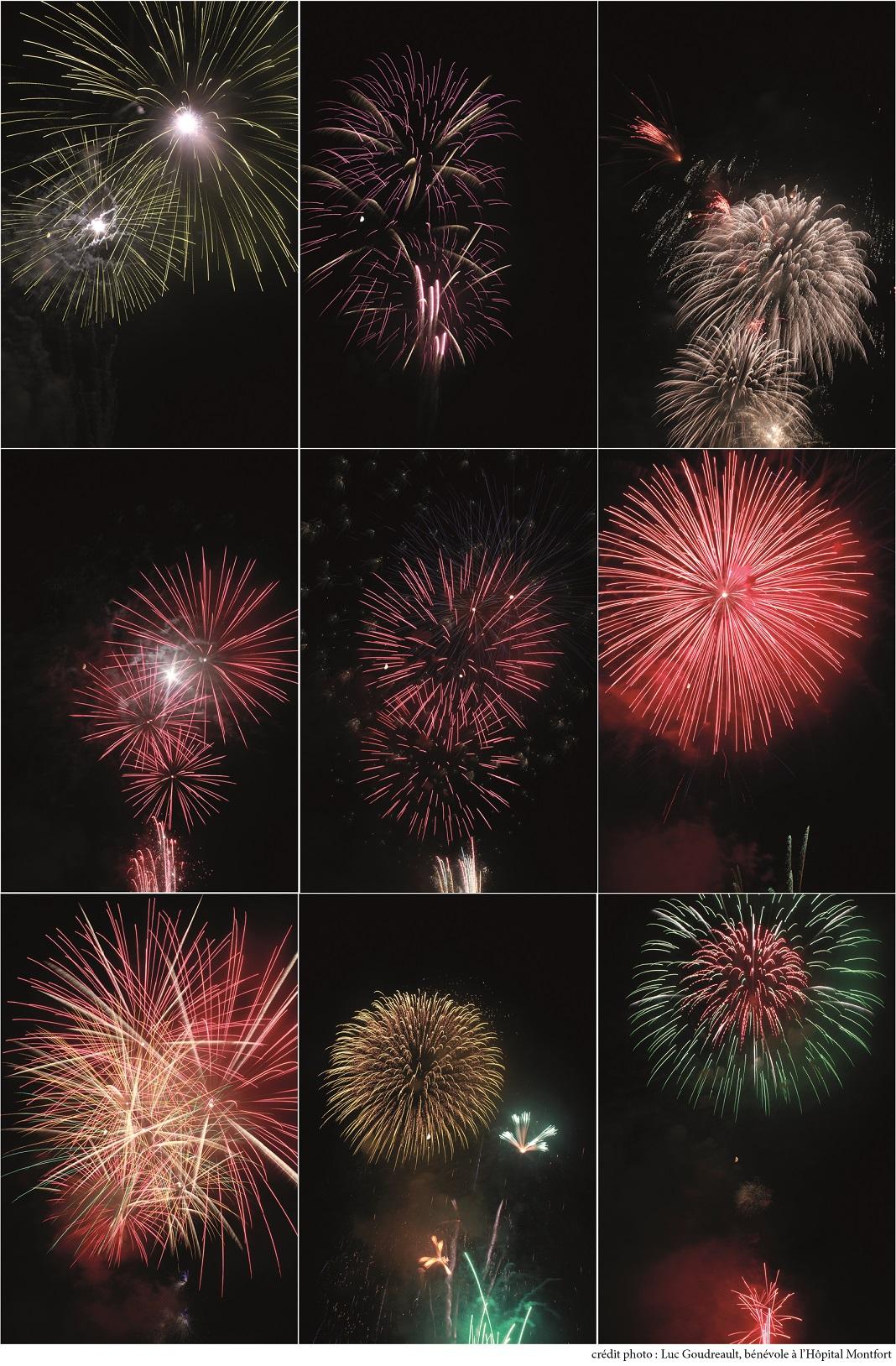 Photo-montage de feux d'artifice