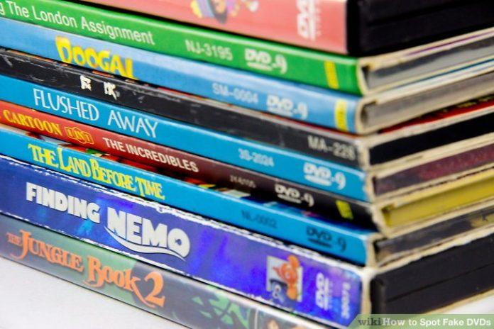 Une pile de dvds