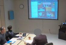 Sylvie Grosjean et ses collègues en simulation de télémédecine