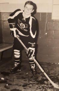 Denis Prud'homme jouait au hockey pour le Hull volant