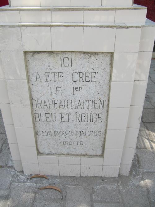 Monument au premier drapeau haïtien.
